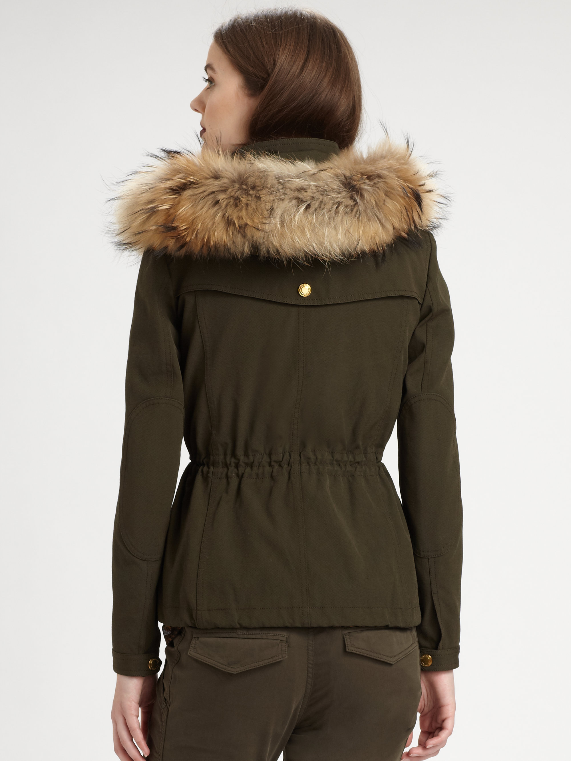 Lyst Burberry Brit Three In One Parka With Down Vest In