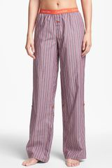 Calvin Klein Roll Up Pajama Pants - Lyst