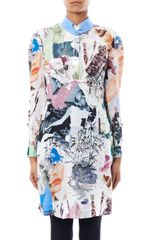 Carven Collage print Silk Dress - Lyst
