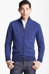 Etro Wool Zip Sweater - Lyst