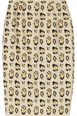 Giambattista Valli Leopardprint Silktwill Pencil Skirt - Lyst