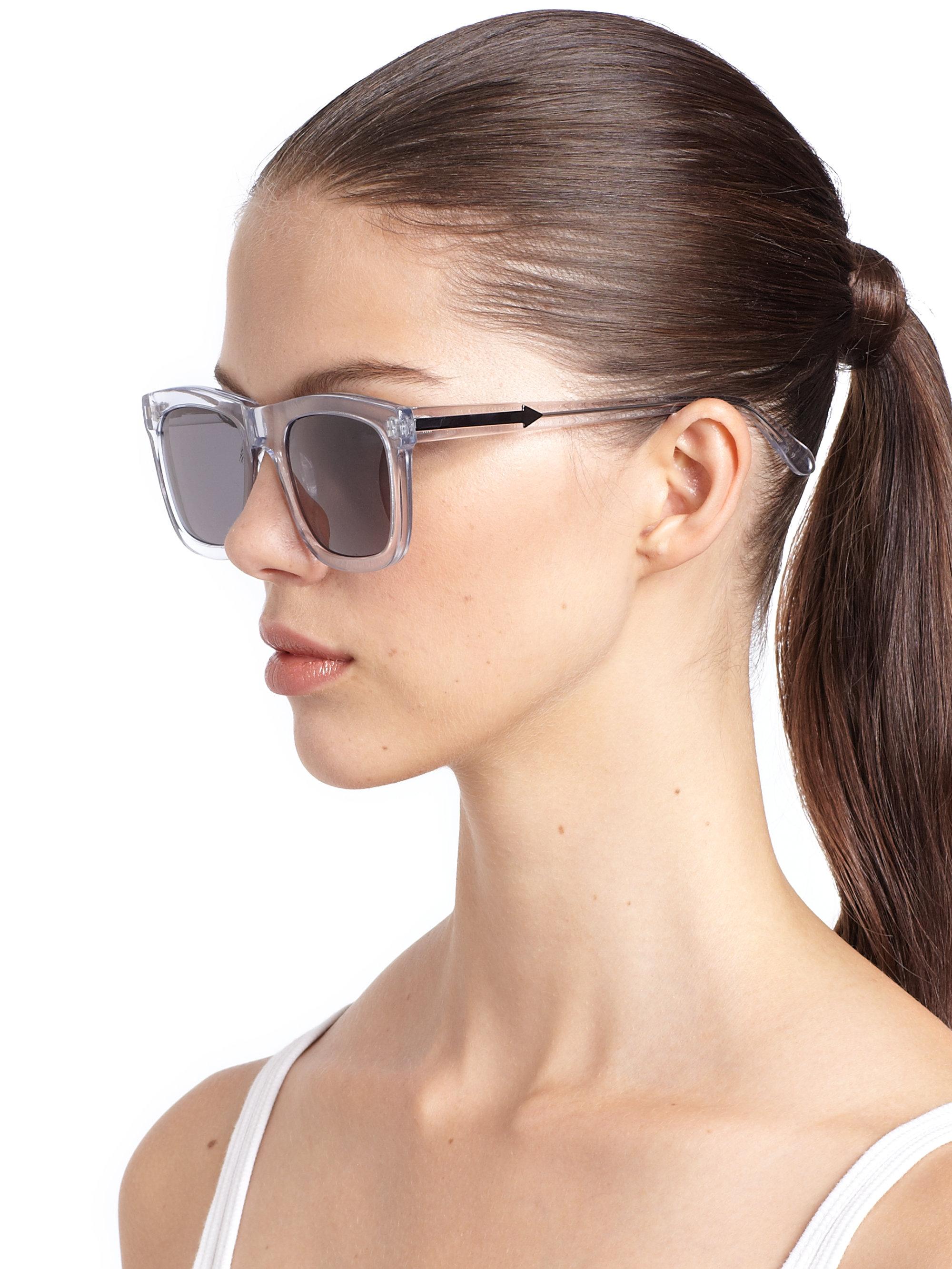 961fed360bc Karen Walker Deep Freeze Square Sunglasses - Lyst
