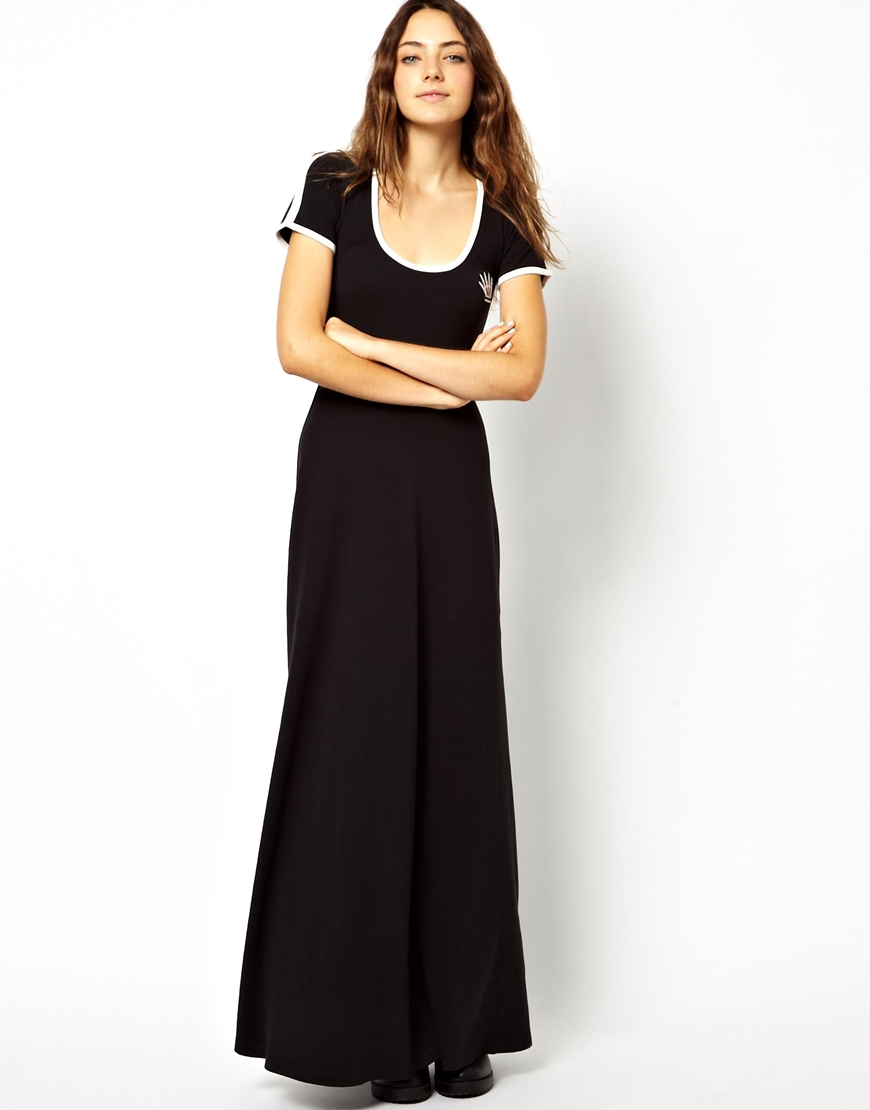 Lazy oaf sport maxi dress in black lyst