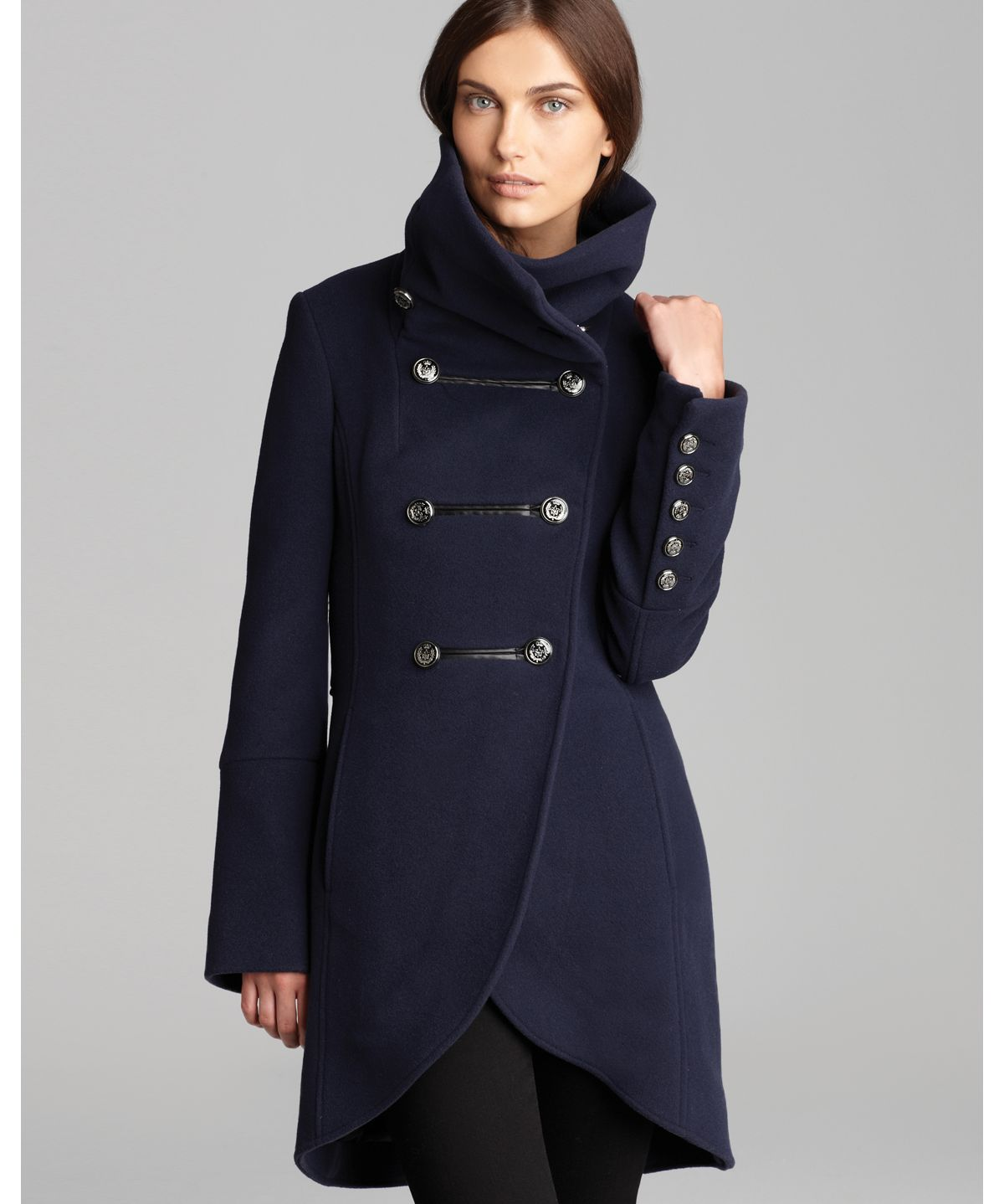 Mackage Coat Diana Military Wool in Blue | Lyst