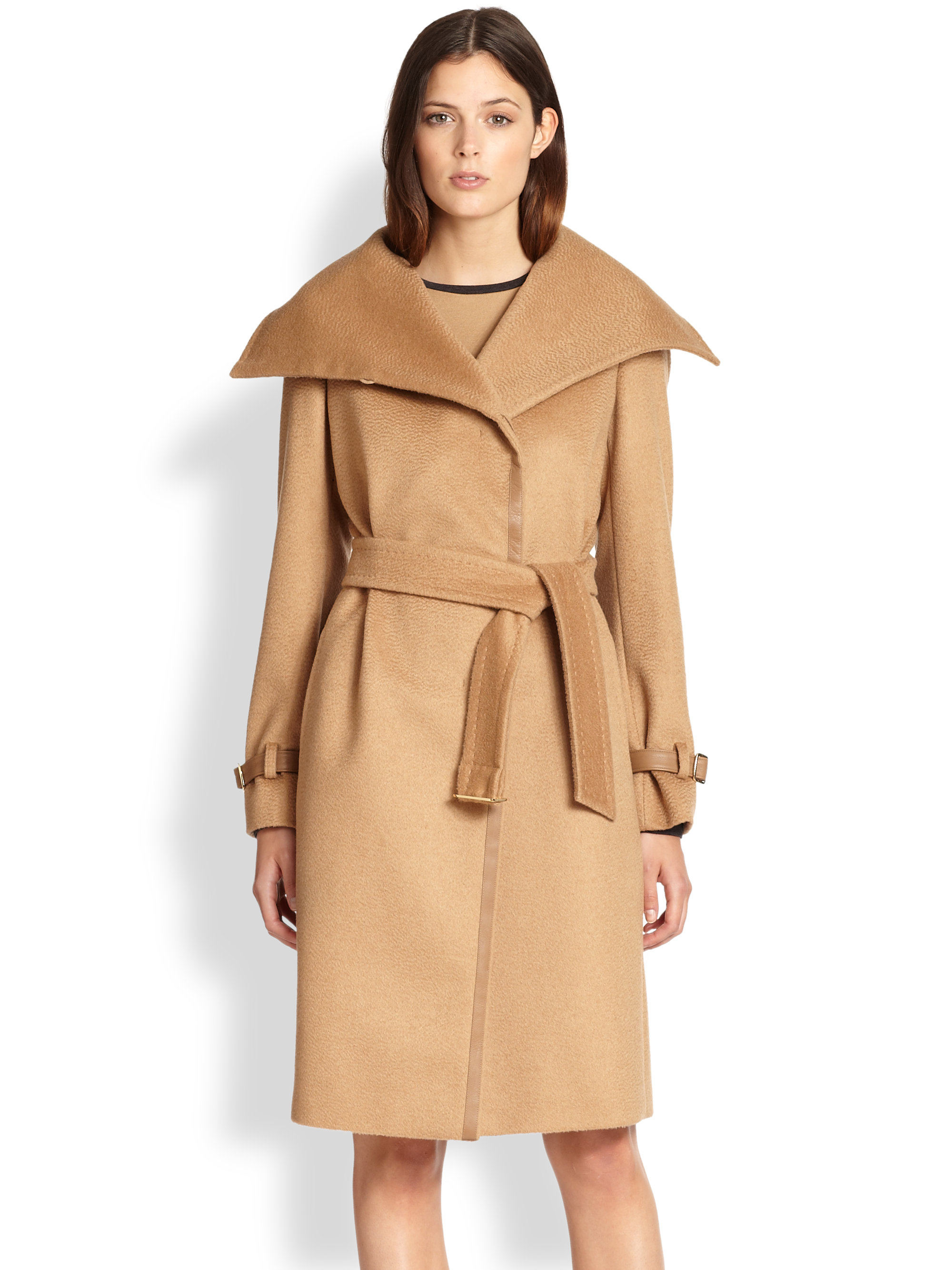a37ceab989dcb Lyst - Max Mara Fingere Camel Hair Coat in Brown
