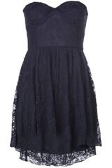 Motel Rocks Strapless Lace Dress - Lyst