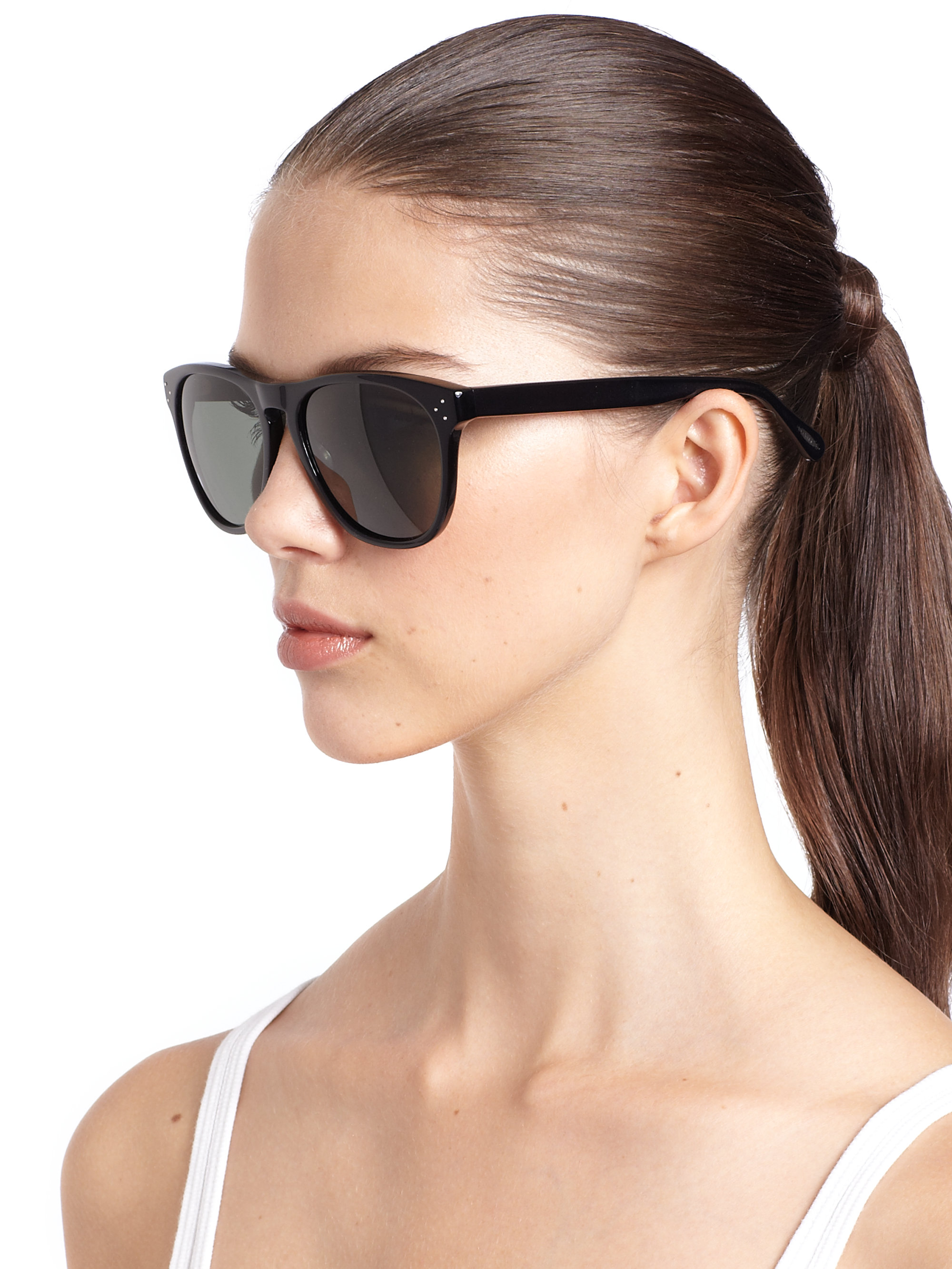 07cd1111a80 Lyst - Oliver Peoples Daddy B 58mm Square Sunglasses in Black
