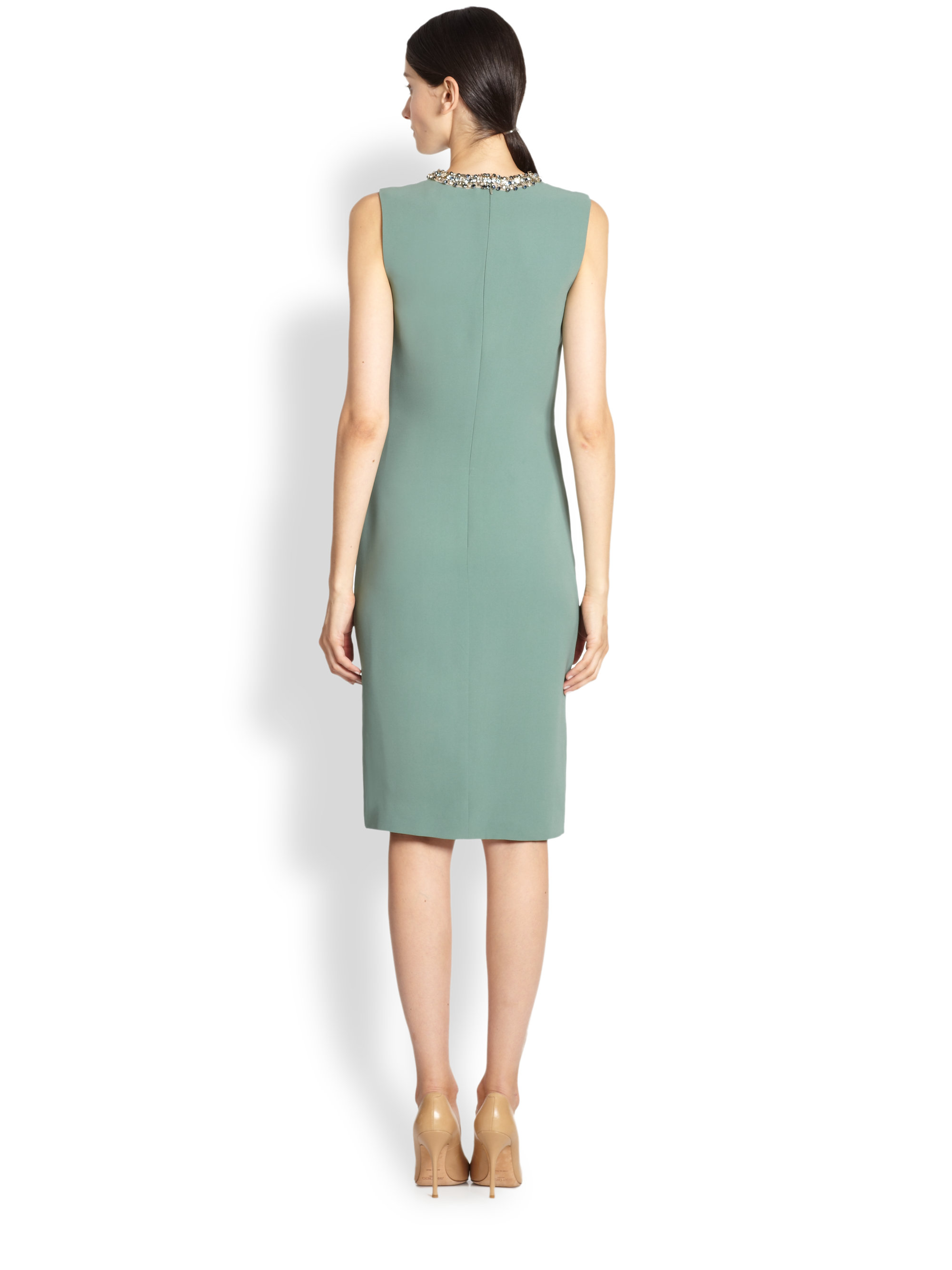 Lyst - Ralph Lauren Collection Beaded Atkins Dress in Green