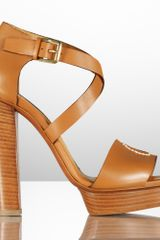 Ralph Lauren Collection Sharie Calf Platform Sandal - Lyst