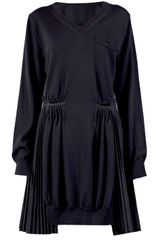 Sacai V-neck Dress - Lyst