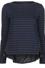 Sacai Stripe Top - Lyst