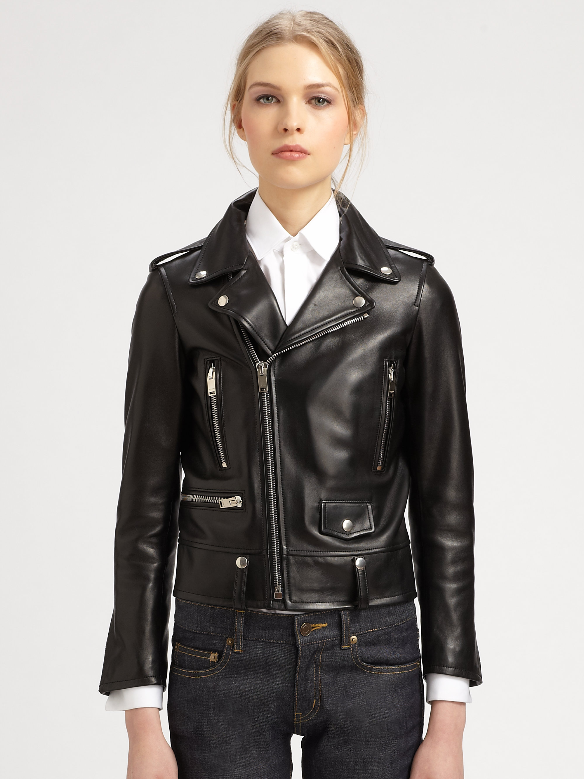 Leather motorcycle jackets for women fashion 69