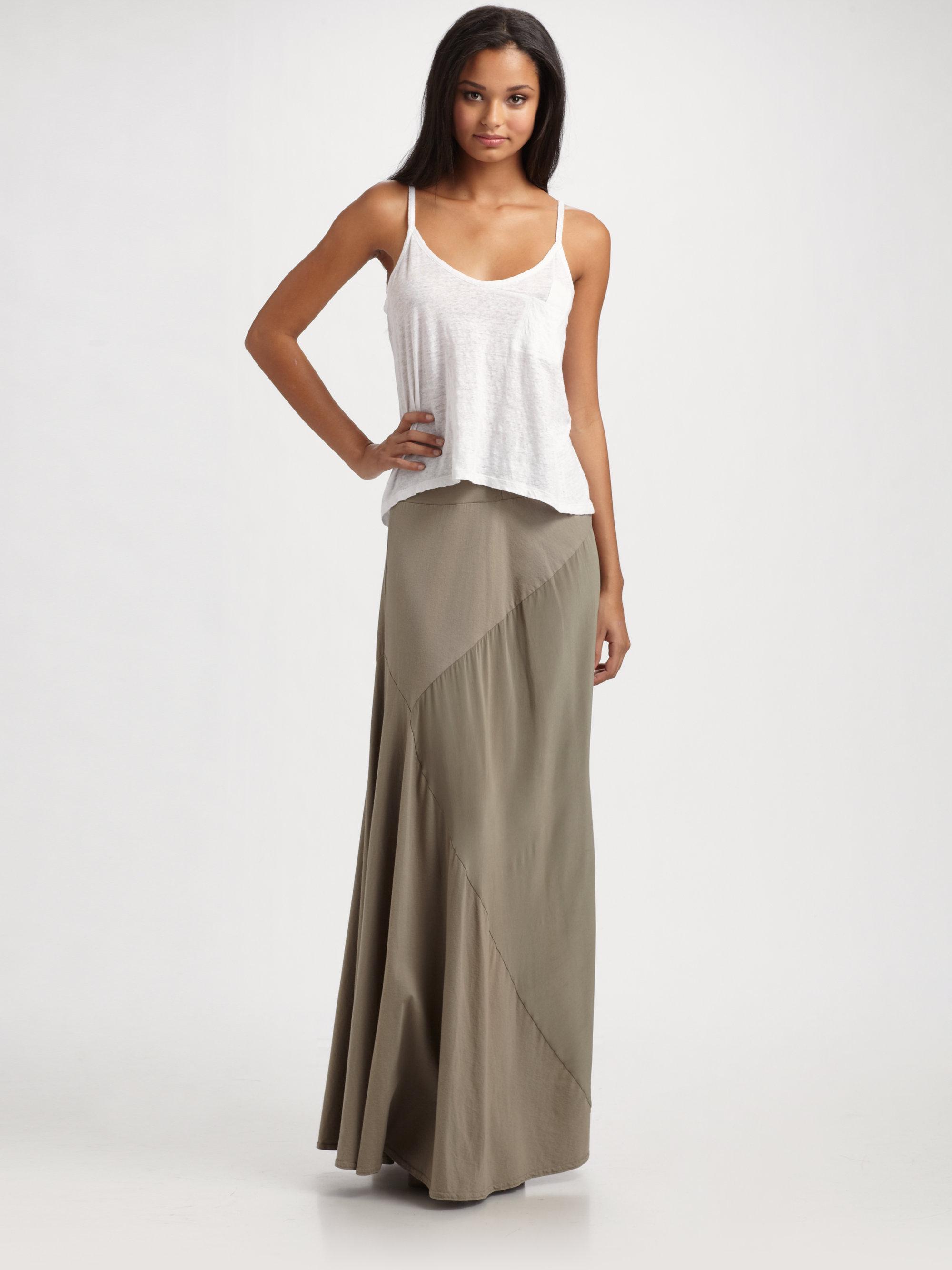 Seneca rising Kane Jersey Maxi Skirt in Green | Lyst