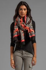 Theodora & Callum Berber Tie All Scarf in Peach - Lyst