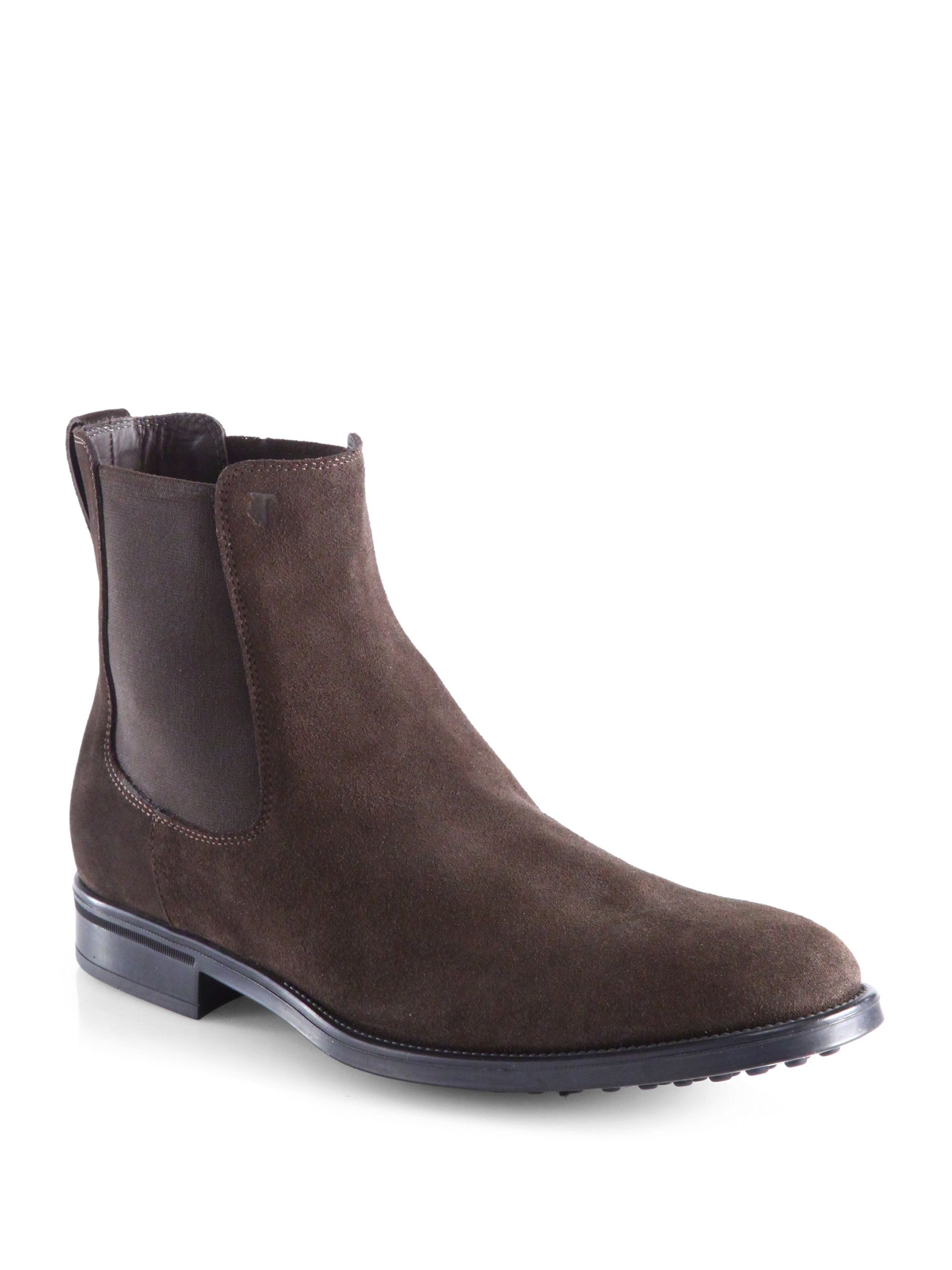 Tod S Suede Chelsea Boots In Brown For Men Lyst