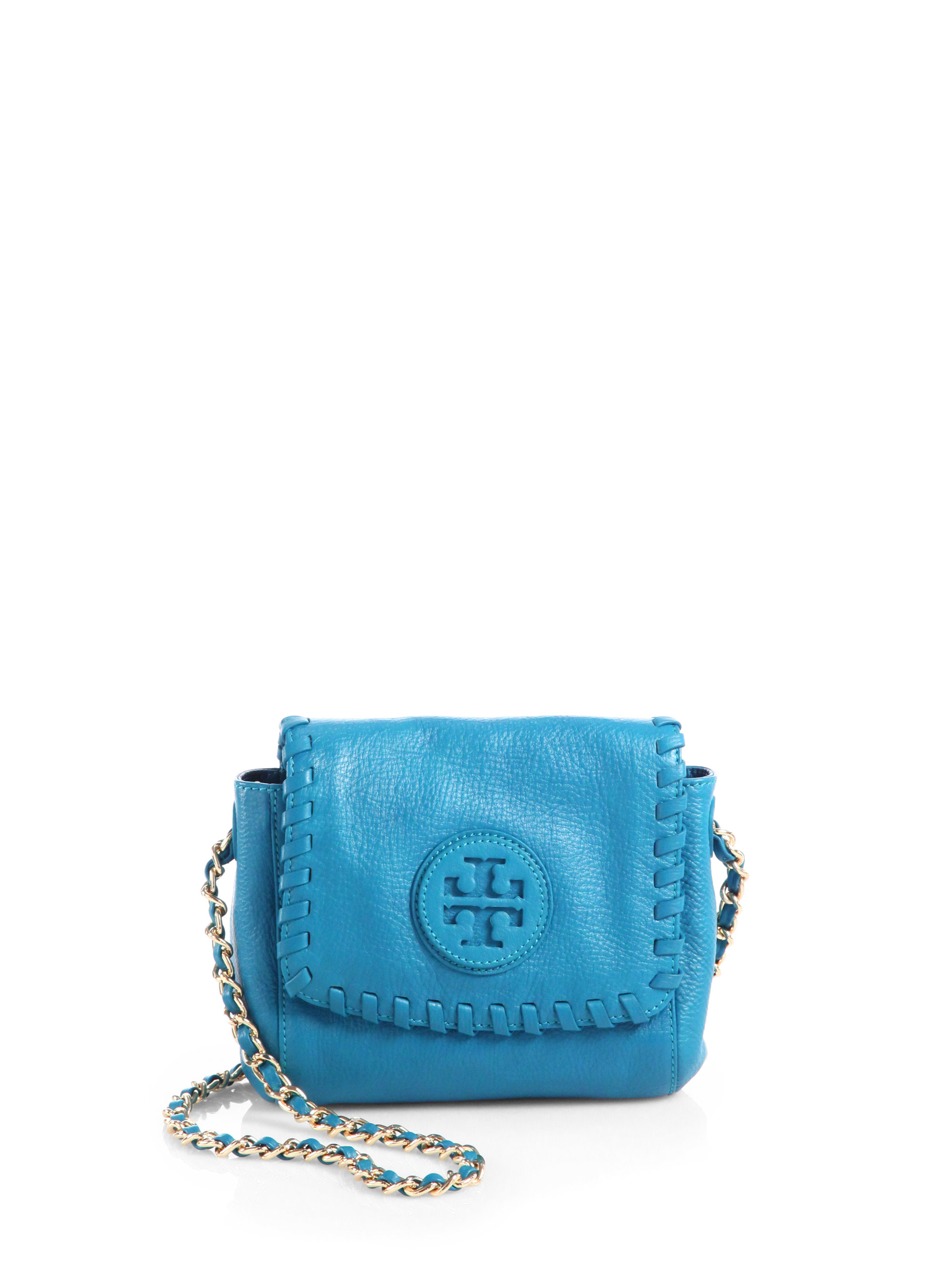 Tory Burch Marion Small Crossbody Bag In Blue Electric