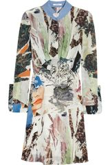 Carven Printed Silk georgette Dress - Lyst