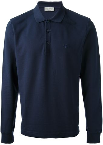 Dior Longsleeved Polo Shirt - Lyst