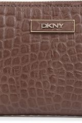 DKNY Mockcroc Leather Wallet - Lyst