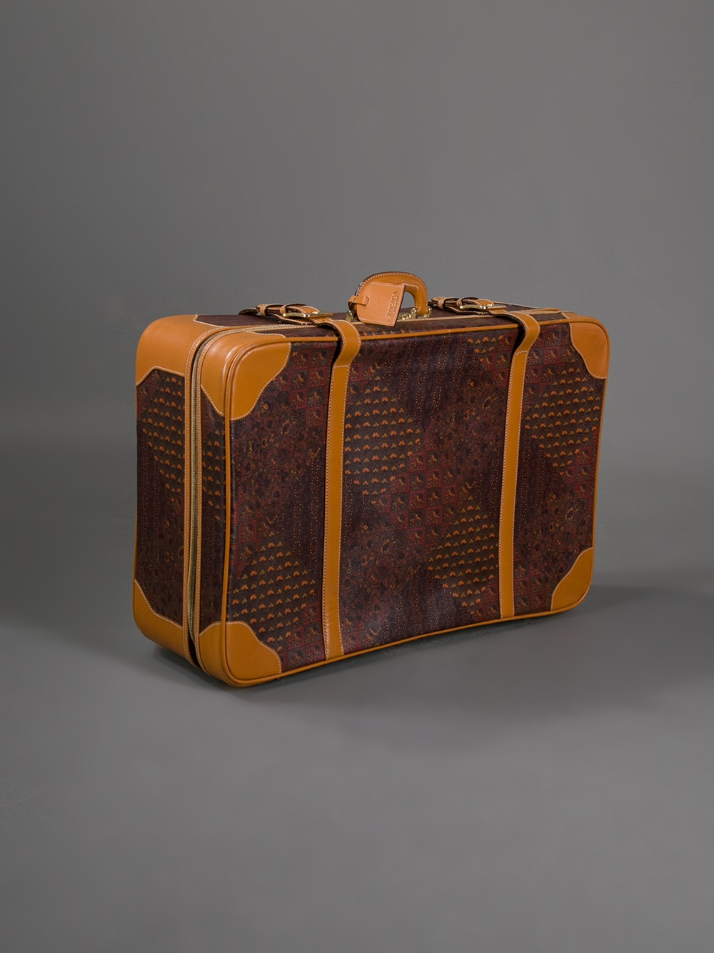 Escada Paisley Print Suitcase In Brown For Men Lyst