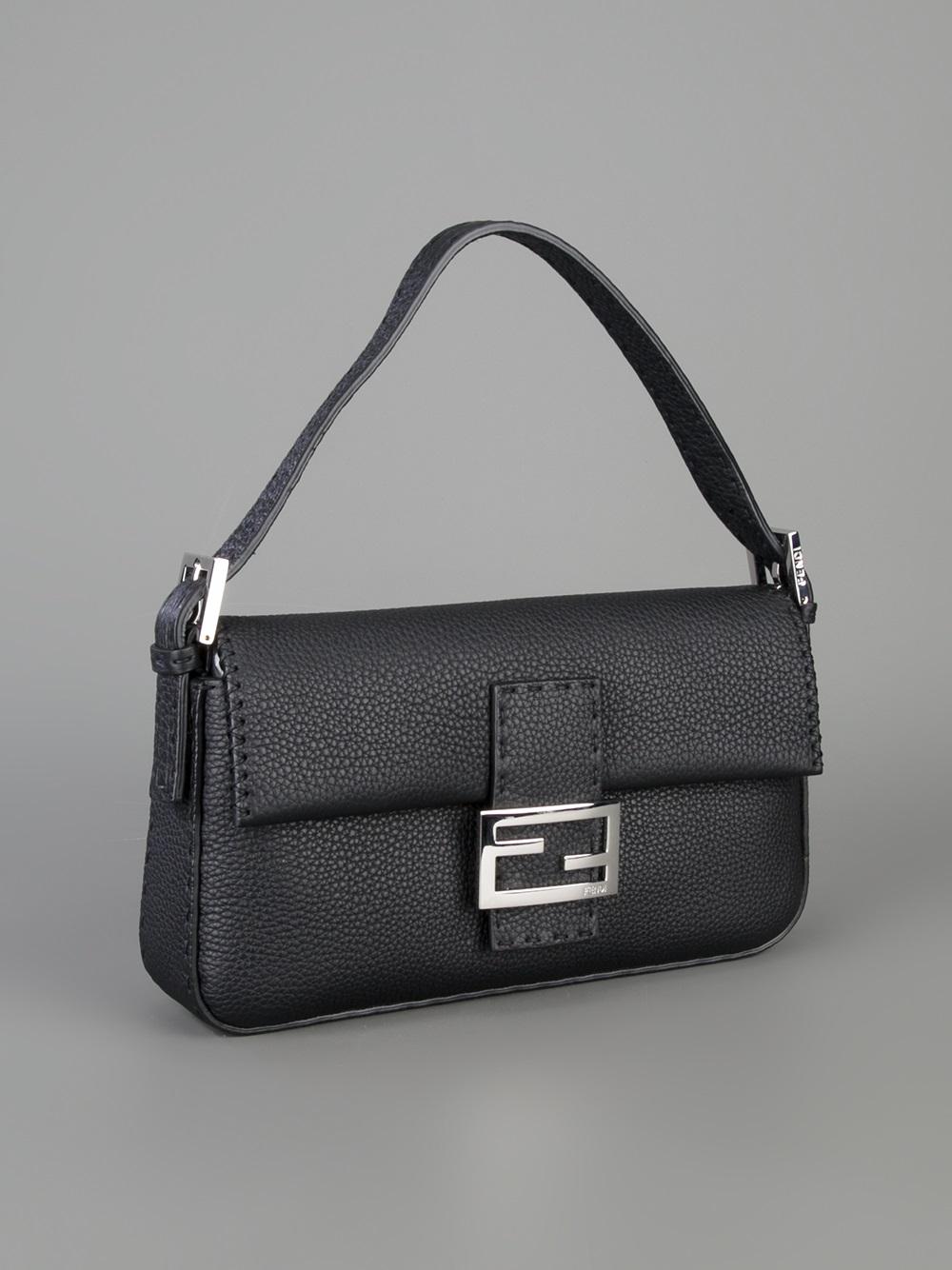 Lyst - Fendi Selleria Baguette Bag in Black b15e95cc5e795