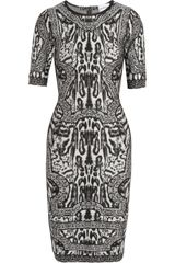 Hervé Léger Printed Bandage Dress - Lyst
