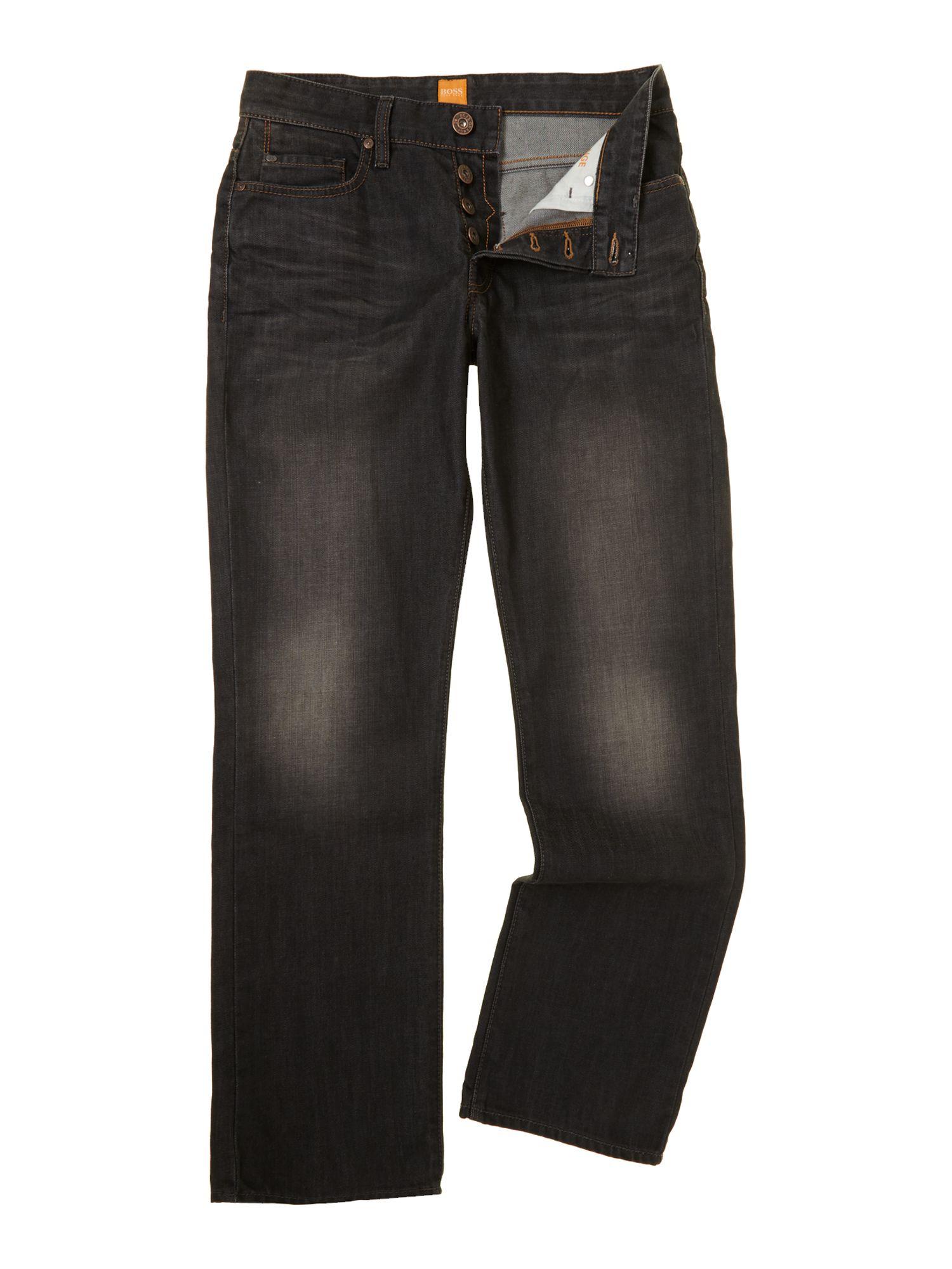 hugo boss orange 25 jeans in black for men denim lyst. Black Bedroom Furniture Sets. Home Design Ideas