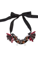 Marni Resin and Ribbon Necklace - Lyst