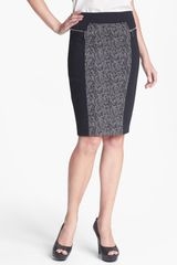 Michael by Michael Kors Print Panel Ponte Skirt - Lyst