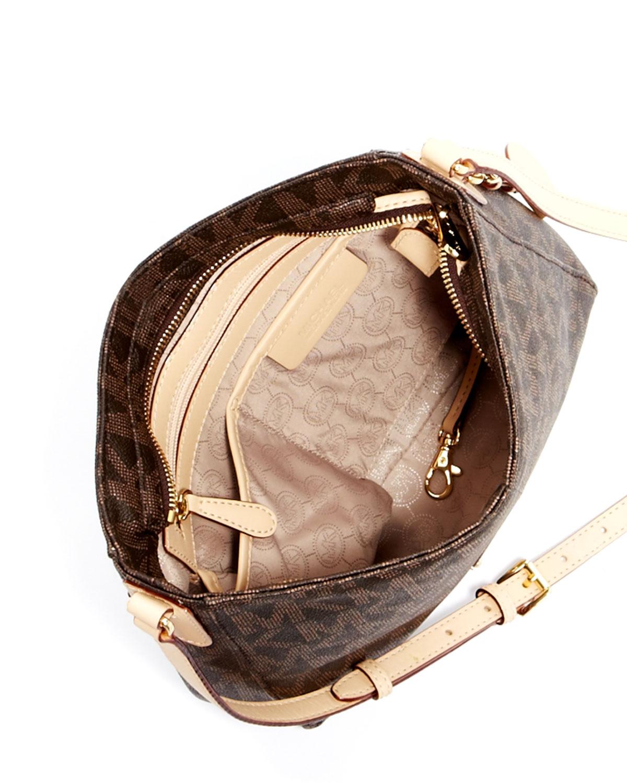 0bc9921704a5 Michael Kors Jet Set Large Travel Logo Messenger Bag in Brown - Lyst