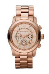 Michael Kors Rose Golden Runway Oversized Chronograph Watch - Lyst