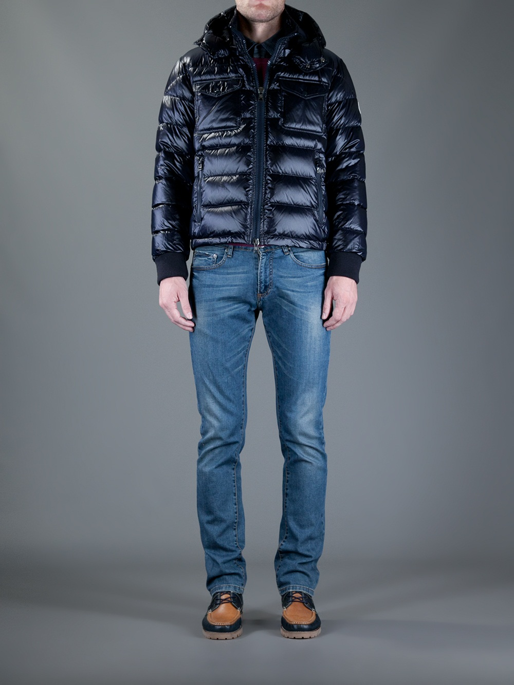 ... lyst moncler fedor jacket in blue for men