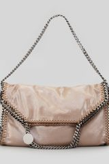 Stella McCartney Falabella Small Foldover Tote Bag Beige - Lyst