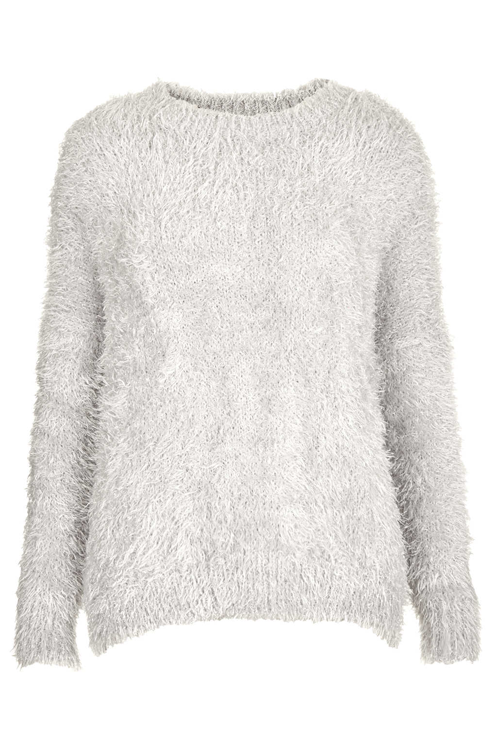 Knitting Pattern Fluffy Jumper : Topshop Knitted Cloud Fluffy Jumper in White Lyst