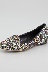 Alice + Olivia Alice Olivia Drake Sequined Confetti Smoking Slipper - Lyst