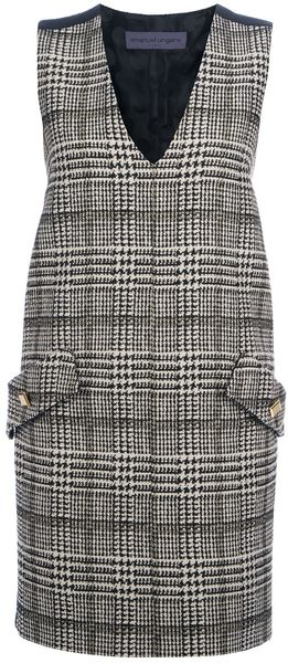 Emanuel Ungaro Checked Shift Dress - Lyst