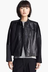 Helmut Lang Genuine Calf Hair Leather Jacket - Lyst