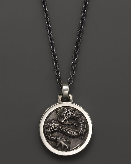 hardy mens naga silver pendant necklace 24 in