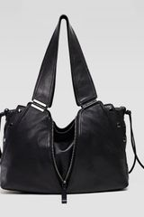Kooba Kiera Leather Satchel Shoulder Bag Black - Lyst