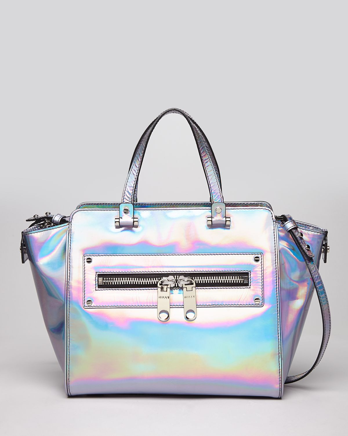 Lyst Milly Tote Demi Hologram In Metallic