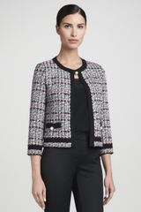 St. John Collection Topclosure Tweed Jacket Caviarmulti - Lyst