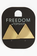 Topshop Brushed Triangle Earrings - Lyst