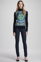 Tory Burch Denim Leggings Rinse - Lyst