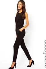 Asos Asos Petite Exclusive Jumpsuit with Mesh Insert - Lyst