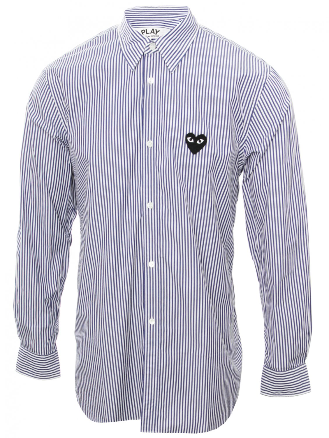 comme des gar ons play mens stripe shirt with black heart. Black Bedroom Furniture Sets. Home Design Ideas