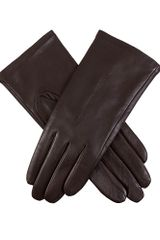 Dents Ladies Plain Leather Gloves Lined Fleece - Lyst