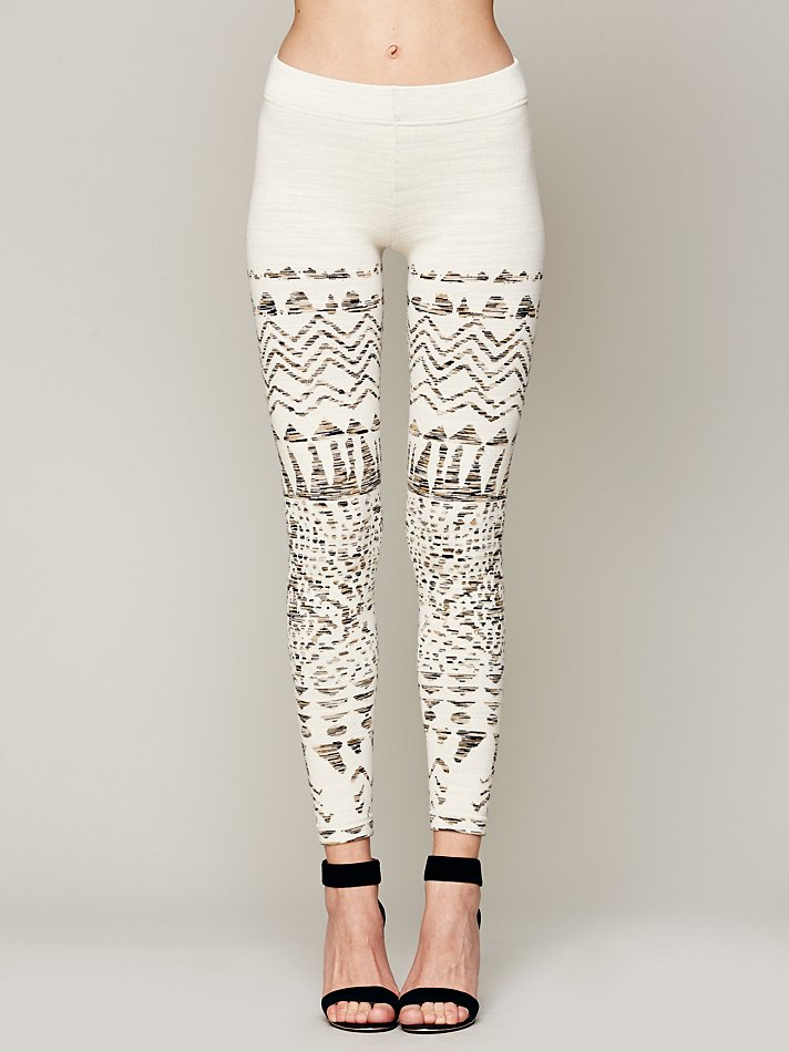 Free people Winter Story Sweater Legging in White | Lyst