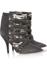 Isabel Marant Tacy Suede Printed Calf Hair and Leather Boots - Lyst