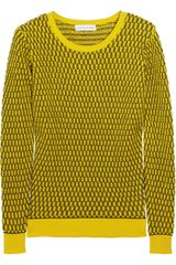Jonathan Saunders Oval Waffleknit Cotton Sweater - Lyst