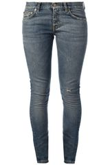 Saint Laurent Skinny Five Pocket Jeans - Lyst